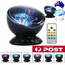 Sea Ocean Wave Projector LED Light Lamp Party Remote Control Music Player AU