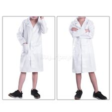 Kids Boys Girl Dr. Doctor Lab Coat Children Scientist Scrubs Fancy Dress Costume