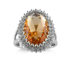 Amazing Jewelry Gift Natural Morganite Gems Silver Ring Size 6-10