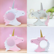 Creative Unicorn Wooden Piggy Bank Money Box for Saving Coins Cash Kids Gift