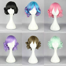 Lolita short Long Curly Wavy Hair Full Wigs Harajuku Anime Cosplay Party Wigs