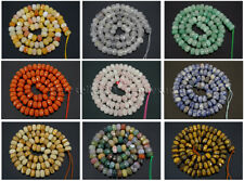 Natural Gemstones Faceted Rondelle Spacer Loose Beads 15.5'' 4mm x 6mm 5mm x 8mm