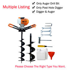 """2.2HP 52CC Gas Powered Post Hole Digger With 6""""/10"""" Earth Auger Power Engine US"""