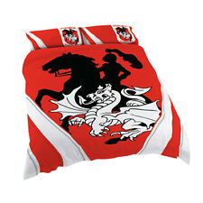 St George Illawarra Dragons NRL Quilt Cover Set Single Double Queen King