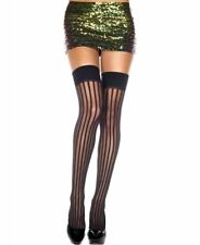New Music Legs 4231 Vertical Striped Thigh High Stockings
