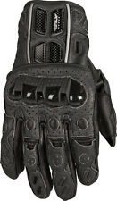 FLY RACING FL1 Perforated Leather Motorcycle Gloves (Black) Choose Size