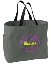 Personalized Embroidered Volleyball 2 Sport Essential Tote Bag CSB0750VB2-CHAR