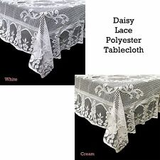 White or Cream Lace Kitchen Table Cloth Tablecloth Round or Oblong choice