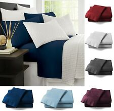 4 Piece Hypoallergenic Luxury Bed Sheets Full Queen King Size Bedding Sets