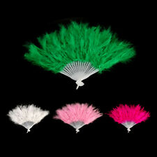 Foldable Hand Fluffy Feather Fan Showgirl Dance Stage Costume Party Cosplay