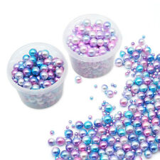 Gradient Color Acrylic Beads Jewelry Accessories Making UV Resin Encapsulation