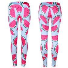 Sports Slim Leggings Workout Pants New Women Fitness Print Stretch Trouser Yoga