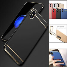 3 in 1 Anti-Scratch Shockproof Electroplate Protective Case For iPhone X 10 7 8+