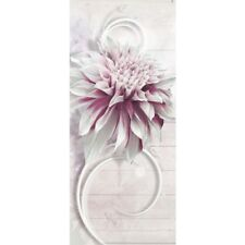 Door Photo wall paper no. 990 91x211 cm Wood Ornaments Flower Blossom liwwing