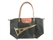 Longchamp Eiffel Tower Bag Tote limited edtion black navy blue  Authentic new