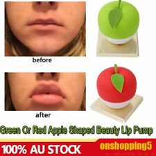 Sexy Green Or Red Apple Shaped Beauty Lip Pump Quick Lip Plumper Enhancer AU