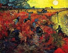 The Red Vineyards in Arles by Van Gogh (classic Dutch Impressionist art print)