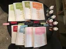 Stampin' Up! UsedRetired Ink Pad, Marker, Reinker Combo Peach, Celery, Pink, Red