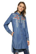 Desigual Blue Denim Lizzy Shirt Floral Embroidery XS-XXL UK 8-18 RRP �94