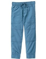 NWT Gymboree Boys Pull on Pants Jersey Lined Jogger Bluish Gray Good sport
