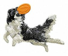 Border Collie Agility Dog, Embroidered Patch, or Embroidered Hat