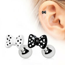 316L Stainless Steel Polka Dots Bow Tie Cartilage Earring