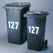 "3x Wheelie Bin Numbers Stickers Self Adhesive Stick On. Available colours , 4""--"