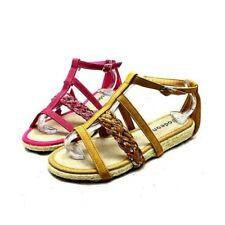 Ladies flat strappy sandals with sequined detail