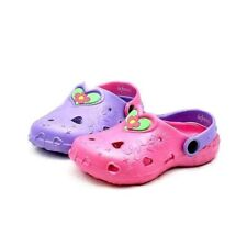 Childrens rubber clog style beach shoes / sandals with flower detail