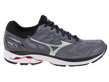 NEW MENS MIZUNO WAVE RIDER 21 RUNNING SHOES TRAINERS QUIET SHADE / SILVE 2E-WIDE