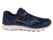 NEW MENS SAUCONY GUIDE ISO RUNNING SHOES TRAINERS NAVY / RED