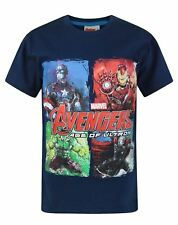 AVENGERS Super Hero Kids T-Shirt Marvel Boys Avenger Shirts Ages 3-14 Superhero
