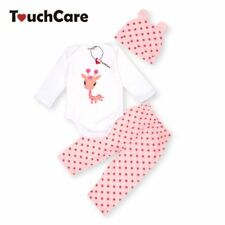Assorted Selection of Infant Baby 3 Piece Romper Pant Sets Really Cute