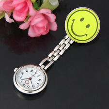 Clip-on Brooch Pendant Hanging Smile Face Womens Mens Watch Quartz Pocket Watch
