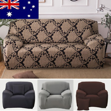 AU! 1/2/3 Seater Stretch Fit Sofa Slipcover Protector Fit Chair Soft Couch Cover