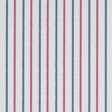 Walcott Marine Blue and Red Nautical Stripe Curtain and Upholstery Fabric