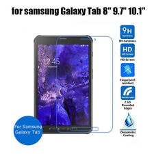 """New For Samsung Galaxy Tab Tempered Glass Screen Protector Guard 7"""" 8"""" 9.7"""" 10.1"""