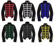 Men Black Military Marching Band Drummer Jacket Gothic New Style in 6 Colors
