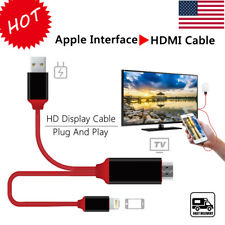 1080 2M 8 PINS APPLE SOCKET TO HDMI TV AV ADAPTER CABLE FOR IPAD IPHONE 6 6S