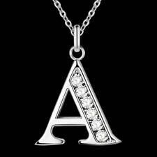 Letter A-S silver plated Necklace, Stamp 925 Fashion silver jewelry Fashion Pen