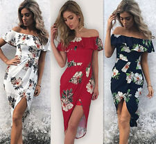 Fashion Women Summer Boho Floral Beach Party Evening Cocktail Maxi Long Dress