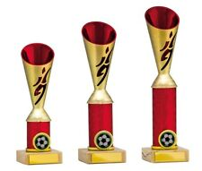Gold/Red Football Player Cup Trophies Awards 3 sizes FREE Engraving