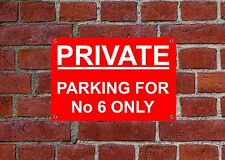 PARKING FOR your No ONLY CUSTOM Weatherproof sign 5316 Aluminium, PVC or Sticker