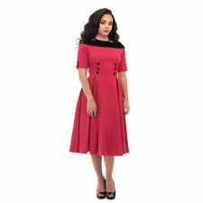 Collectif Ladies Vintage Carrera Swing Dress 1950's Classic Rockabilly Clothing