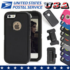 For Apple iPhone 5 5S SE Case Cover Shockproof Hybrid Hard Rugged Rubber TPU+PC