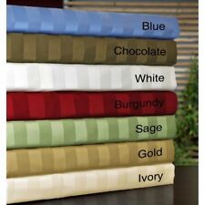 Cal King Size 1000TC Egyptian Cotton Sheet Set/Duvet/Fitted/Pillow Striped Color