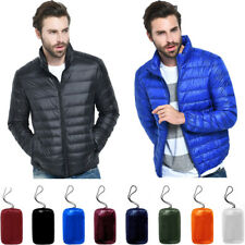 Men's Packable Down Jacket Ultralight Stand Collar Style Coat Winter Warm Puffer