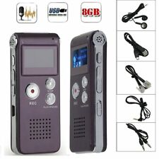 8GB Digital MP3 Player Audio Voice Recorder Rechargeable Dictaphone Telephone O5