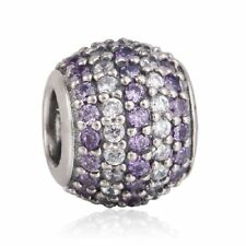 Solid sterling silver Mixed CZ Pave Ball Beads with AAA Cubic Zirconia Charm