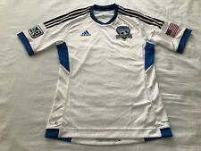 Adidas San Jose Earthquakes Home Player Issue Jersey White X10304 Size Medium